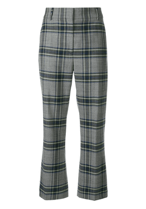 Cédric Charlier slim checked trousers - Grey