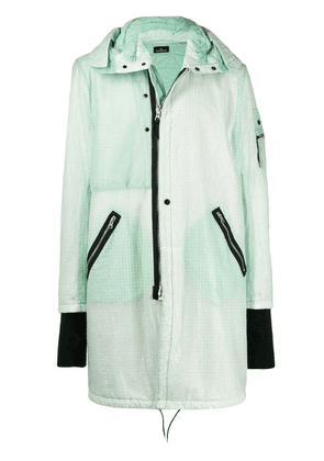 Stone Island Shadow Project padded iconic patch coat - Green