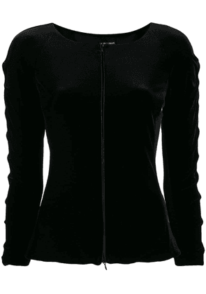 Emporio Armani fitted boat neck jacket - Black
