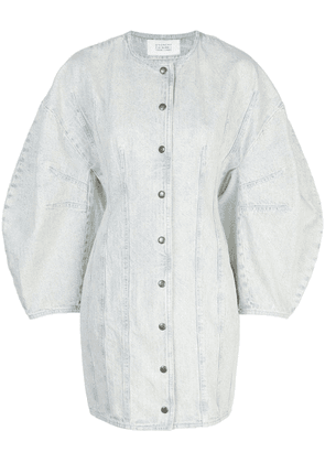 Givenchy puffed sleeves denim dress - White
