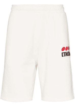 Heron Preston CTNMb dots print shorts - White