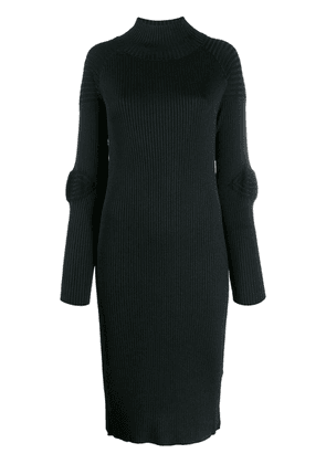 Circus Hotel ribbed fitted midi dress - Black