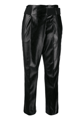 Dorothee Schumacher faux leather belted trousers - Black