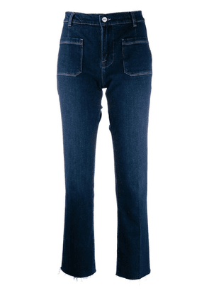 FRAME raw-edge straight fit jeans - Blue