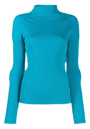 Circus Hotel turtleneck ribbed knit jumper - Blue