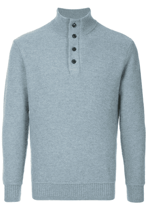 Gieves & Hawkes ribbed knit sweater - Blue