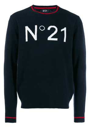 Nº21 oversized logo knitted sweater - Blue