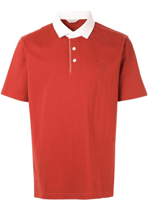Gieves & Hawkes contrast collar polo shirt - Red