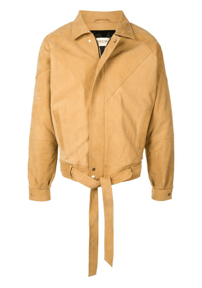 Fear Of God nubuck leather jacket - Neutrals