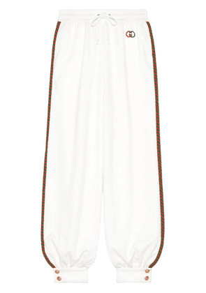Gucci technical jersey jogging pants - White