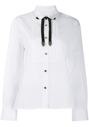 Coach tie neck shirt - White