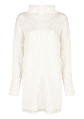 Co ribbed long jumper - White