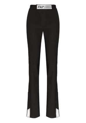 Filles A Papa tailored logo patch trousers - Black