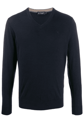 Hackett v-neck knit sweater - Blue