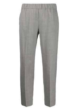 D.Exterior plain cropped trousers - Grey