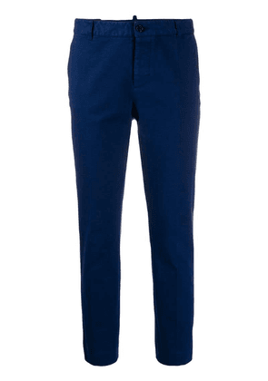 Dsquared2 slim fit cropped trousers - Blue