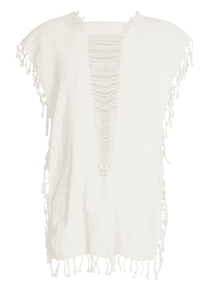 Caravana convertible fringed and distressed top - Neutrals