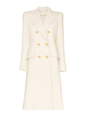 Alexandre Vauthier structured double-breasted coat - White