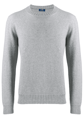 Barba long-sleeve fitted sweater - Grey