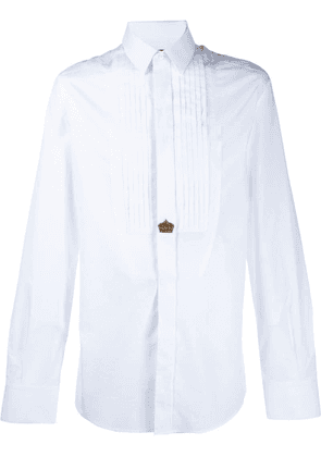 Dolce & Gabbana crown embroidered shirt - White