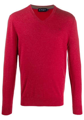 Hackett slim-fit knit sweater - Red