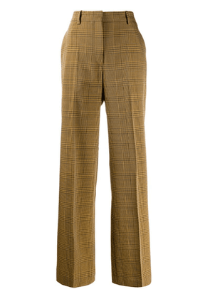 Christian Wijnants checked print trousers - Brown