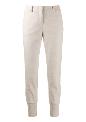 Peserico tapered trousers - Neutrals