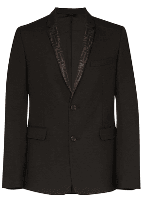 Fendi FF-lapel single-breasted blazer - Black