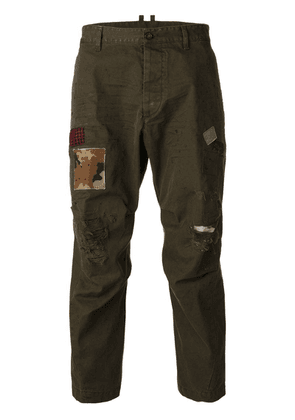 Dsquared2 distressed Hiking trousers - Green