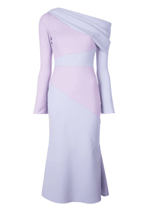 Christian Siriano one shoulder dress - Purple