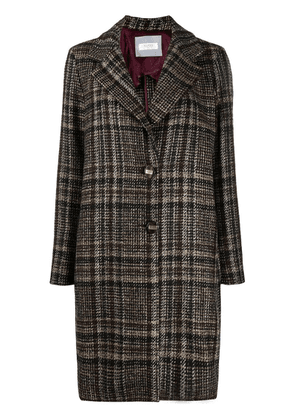 Barba checked single-breasted coat - Brown
