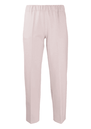 D.Exterior tapered cropped trousers - Pink