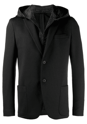Fendi hooded jersey blazer - Black