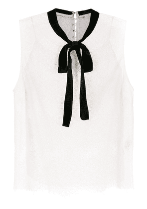 Nk pussy bow shirt - White