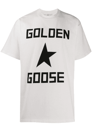 Golden Goose logo printed T-shirt - White