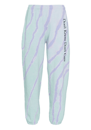 Ashley Williams Don't Know Don't Care cotton track trousers -