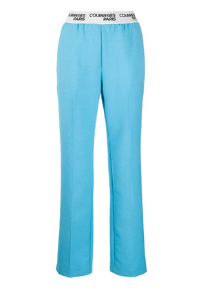 Courrèges elasticated waist trousers - Blue