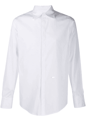 Dsquared2 tailored concealed buttoned shirt - White