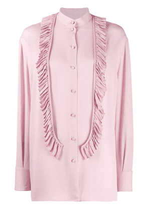 Valentino ruffle front blouse - Pink