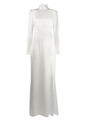 Alessandra Rich crystal embellished gown - White