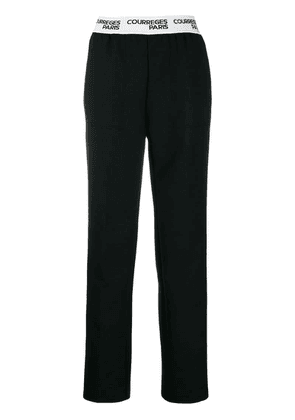 Courrèges elasticated waist trousers - Black