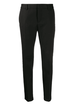 Saint Laurent satin stripe trousers - Black