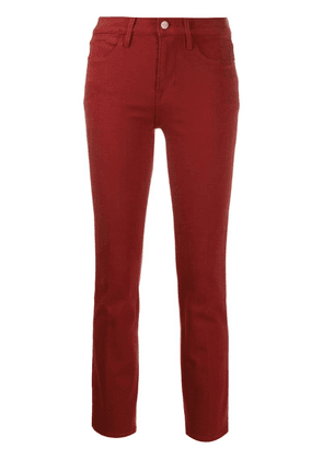 FRAME slim cropped jeans - Red