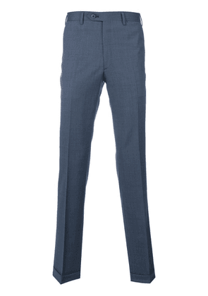Brioni tailored pleated trousers - Blue