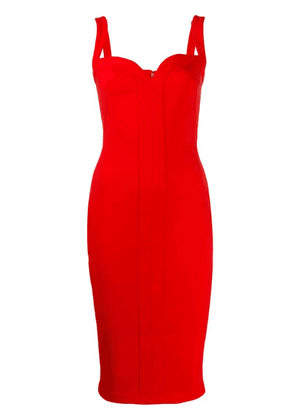 Victoria Beckham sweetheart fitted midi dress - Red