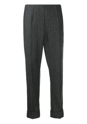 Antonio Marras pinstriped cropped trousers - Grey