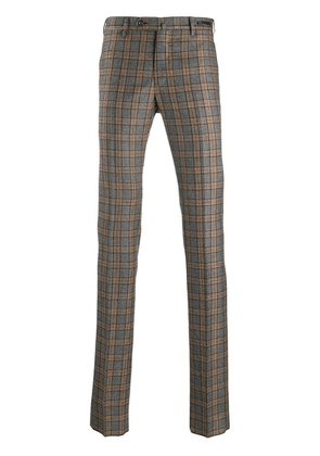 Pt01 checked trousers - Grey