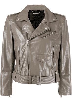 Givenchy cropped biker jacket - Neutrals