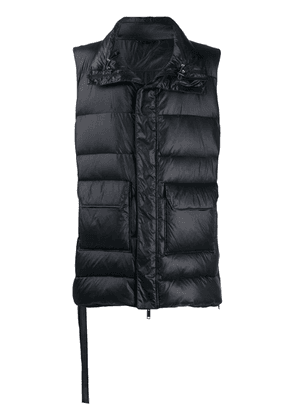 Unravel Project padded gilet - Black