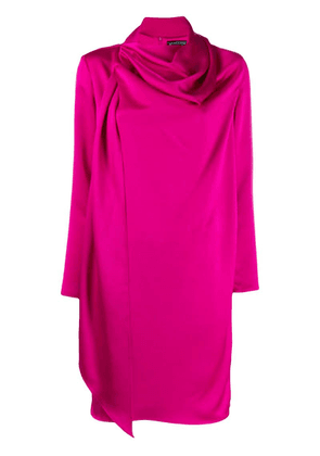 Gianluca Capannolo draped neck dress - Pink